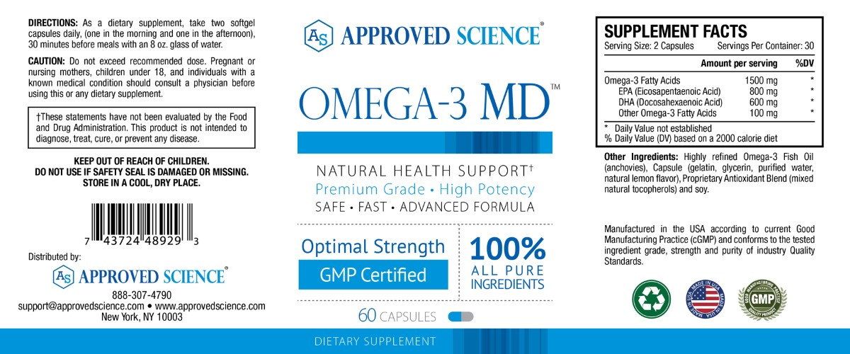 Omega-3 MD Supplement Facts